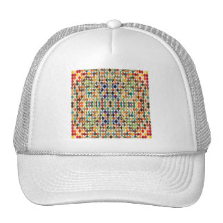 Abstract Multicolored Dots Trucker Hat