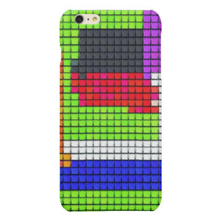 Abstract multicolored fabric pattern glossy iPhone 6 plus case