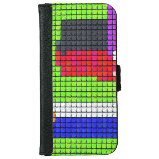 Abstract multicolored fabric pattern iPhone 6/6s wallet case