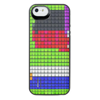 Abstract multicolored fabric pattern iPhone SE/5/5s battery case