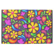 """Abstract Multicolored Floral Pattern iPad Pro 12.9"""" Case"""