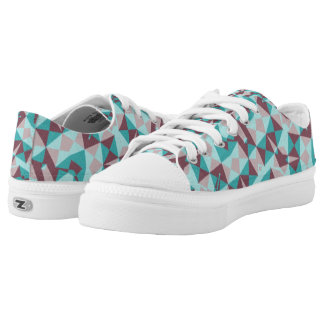 Abstract multicolored modern trendy pattern Low-Top sneakers