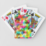 Abstract Multicolored Pattern Bicycle Card Decks