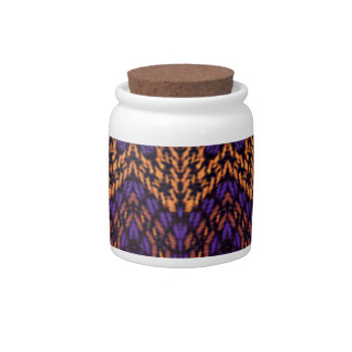 Abstract multicolored pattern candy jar