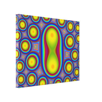 Abstract Multicolored Pattern Stretched Canvas Print
