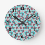 Abstract multicolored pattern clock