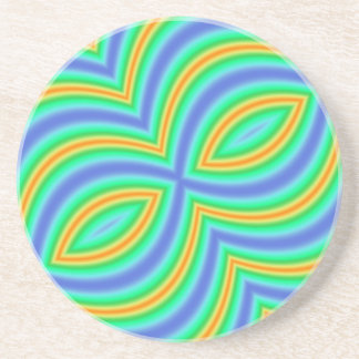 Abstract Multicolored Pattern Coaster