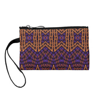Abstract multicolored pattern coin wallet