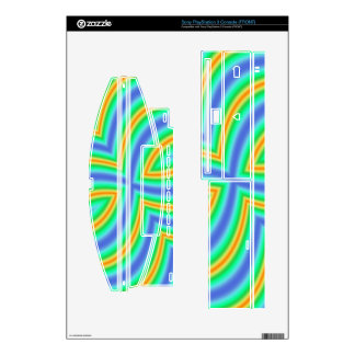 Abstract Multicolored Pattern Decals For PS3