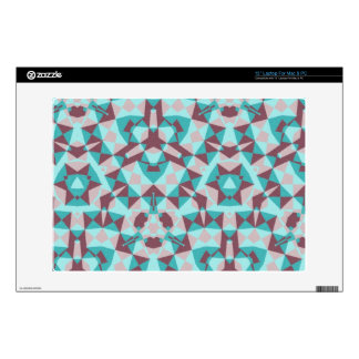 Abstract multicolored pattern laptop decal