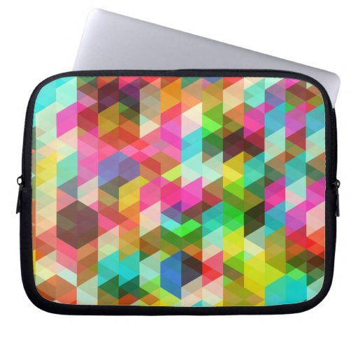 Abstract Multicolored Pattern Laptop Computer Sleeve