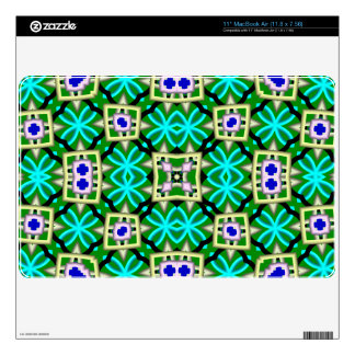 abstract multicolored pattern MacBook skin
