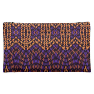 Abstract multicolored pattern makeup bag