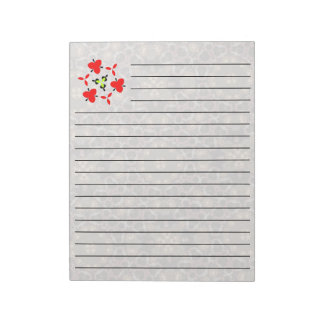 Abstract multicolored pattern notepad