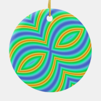 Abstract Multicolored Pattern Christmas Ornaments