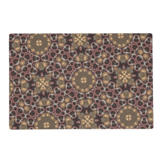 Abstract multicolored pattern placemat