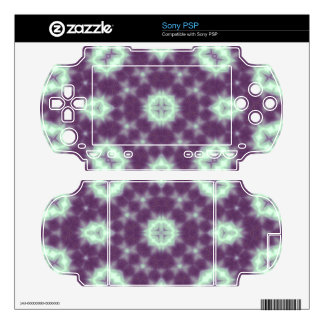 Abstract multicolored pattern  purple sony PSP decals