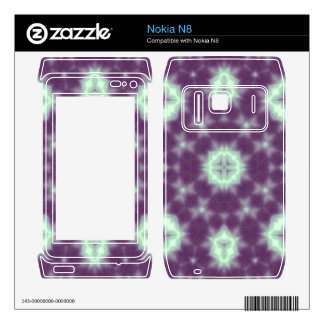 Abstract multicolored pattern purple nokia n8 decal