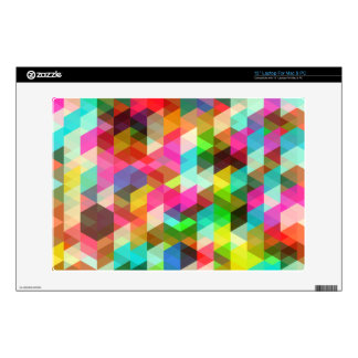 Abstract Multicolored Pattern Skins For Laptops
