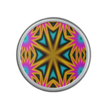Abstract multicolored pattern speaker