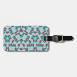 Abstract multicolored pattern travel bag tags