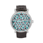 Abstract multicolored pattern wristwatches