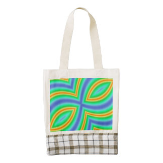 Abstract Multicolored Pattern Zazzle HEART Tote Bag