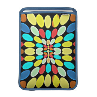 Abstract Multicolored Petals Pattern MacBook Air Sleeve