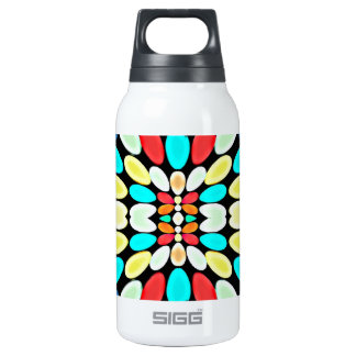Abstract Multicolored Petals Pattern 10 Oz Insulated SIGG Thermos Water Bottle