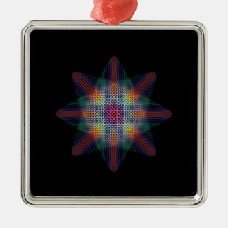 Abstract Multicolored Star Christmas Ornament
