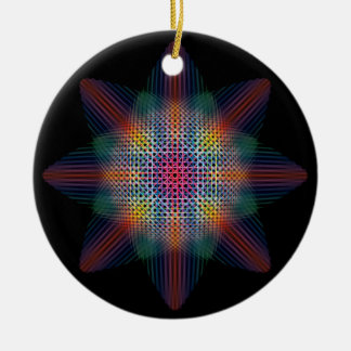 Abstract Multicolored Star Christmas Tree Ornament