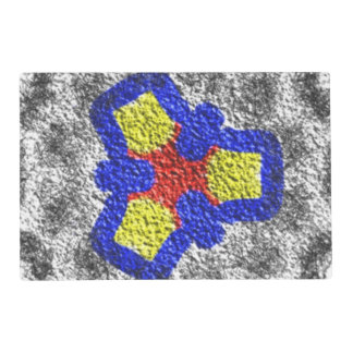 Abstract multicolored texture pattern placemat