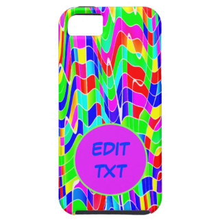 Abstract multicolour iPhone SE/5/5s case