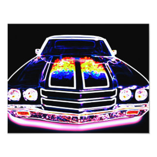 Abstract Muscle Car Card