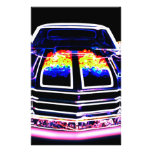 Abstract Muscle Car Stationery Paper