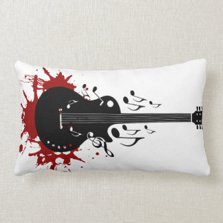 Abstract music background lumbar pillow