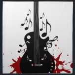 "Abstract music background napkin<br><div class=""desc"">Abstract music background</div>"