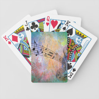 abstract music bicycle playing cards