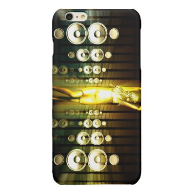 Abstract Music Dance Background for a Music Event Glossy iPhone 6 Plus Case