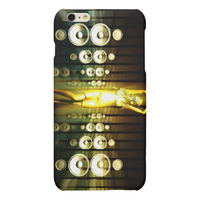 Abstract Music Dance Background for a Music Event Matte iPhone 6 Plus Case
