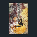 """Abstract Music Guitar Canvas Wall Art<br><div class=""""desc"""">Gold,  brown,  and black abstract musical guitar wall hanging for the music lover in your family.</div>"""