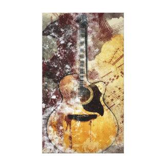 Abstract Music Guitar Canvas Wall Art