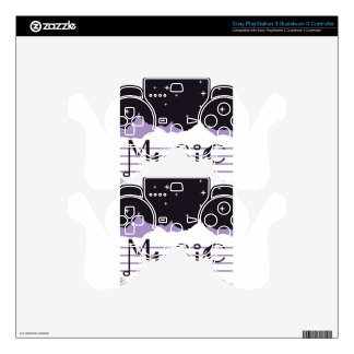 Abstract Music Image Art vector PS3 Controller Decal