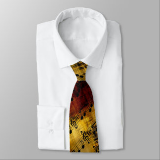 Abstract Music Notes Neck Tie