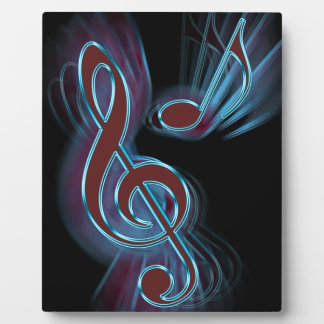 Abstract music. plaque