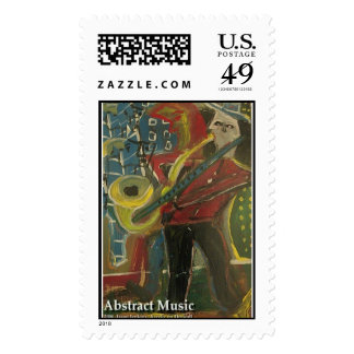 abstract music  postage stamp