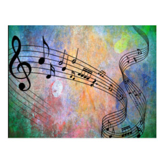 abstract music postcard