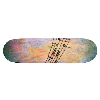 abstract music skateboard deck