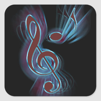 Abstract music. square sticker