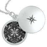 Abstract Musical Design - Black & White Pendants